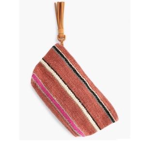 Lucky Brand Jute Pouch/clutch Leather Tassel NWT